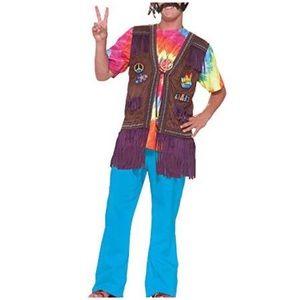 Halloween Hippie Peace Vest - OS